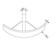 Abdeckkappe rund für Eckwinkel 40x40 Image