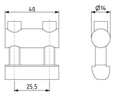 Bolzenverbinder 40 Nut 8 D14mm Image