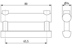 Bolzenverbinder 80 Nut 8 D14mm Image