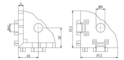 Eckwinkel 40x40 Nut 8 Image