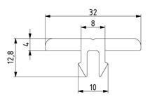 Gleitleiste Nut 8 Image