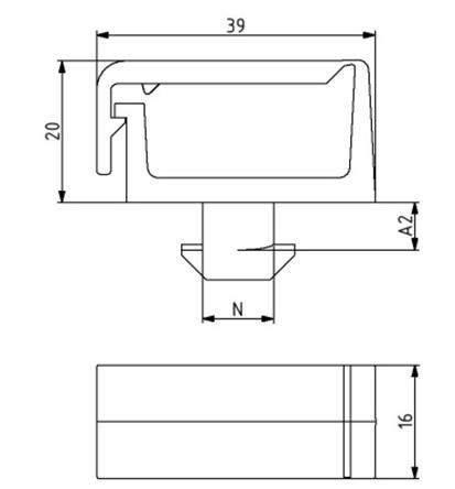 Kabelträger ohne Trennsteg Nut 8 Image