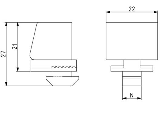 Klemmblock Nut 8 für Scheibenstärke 1 - 9 Image
