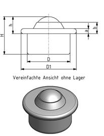 Kugelrolle KR 15 Image