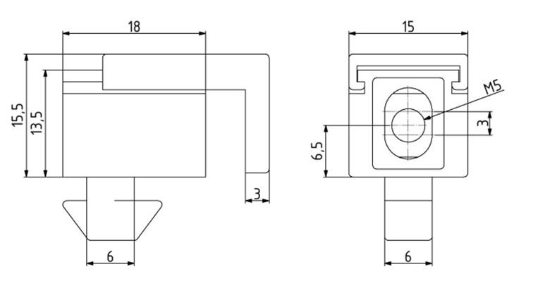 Multi-Uniblock Nut 6 M5 Image