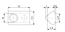 Nutenstein einschwenkbar M5 Nut 5 mit Kugel Image
