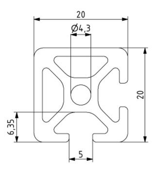 Profil 20x20 2N90 Nut 5 Image