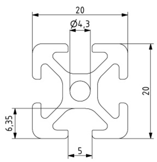 Profil 20x20 Nut 5 Image