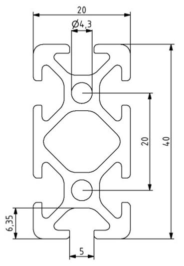 Profil 20x40 Nut 5 Image