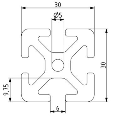 Profil 30x30 Nut 6 Image