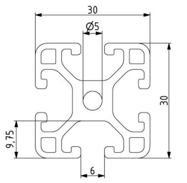 Profil 30x30L Nut 6 Image