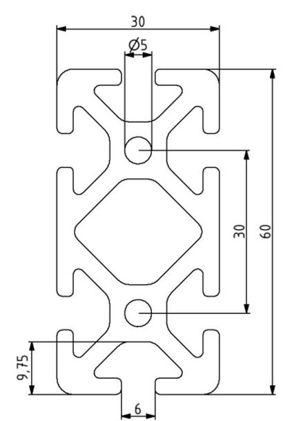 Profil 30x60 Nut 6 Image