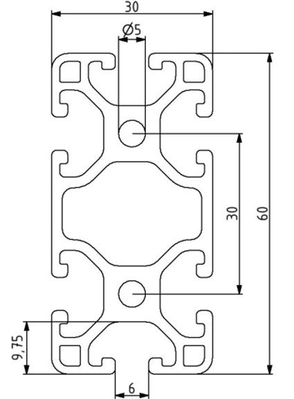 Profil 30x60L Nut 6 Image