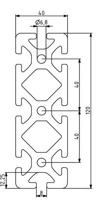 Profil 40x160 Nut 8 Image