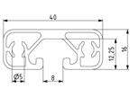 Profil 40x16L Nut 8 Image