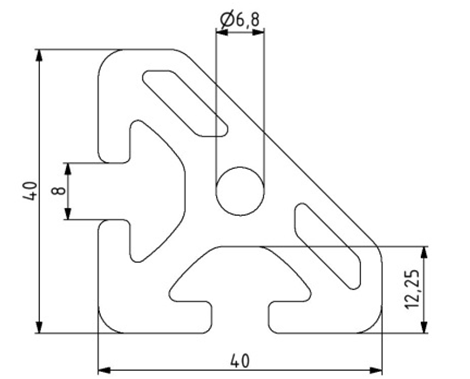 Profil 40x40 45° Image