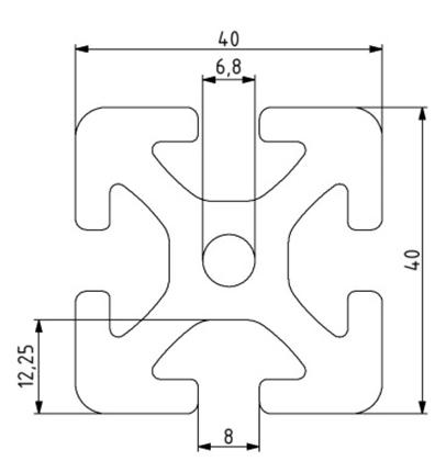 Profil 40x40 Nut 8 Image