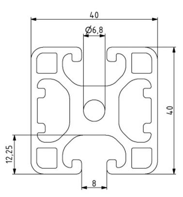 Profil 40x40L 2N180 Nut 8 Image