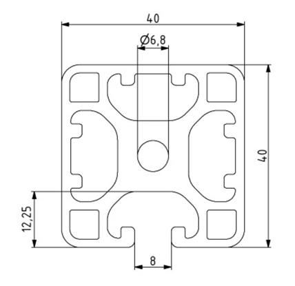 Profil 40x40L 3N Nut 8 Image