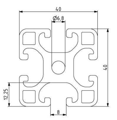 Profil 40x40L Nut 8 Image