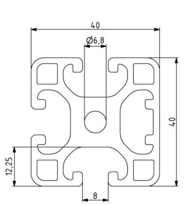 Profil 40x40L 1N Nut 8 Image