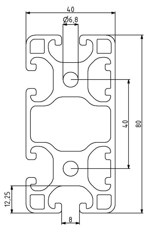 Profil 40x80L 2N Nut 8 Image