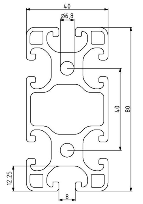 Profil 40x80L Nut 8 Image