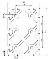 Profil 80x120 Nut 8 Image