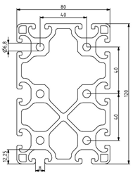 Profil 80x120L Nut 8 Image