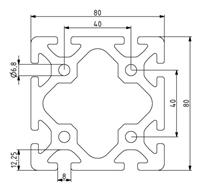 Profil 80x80 Nut 8 Image