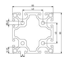 Profil 80x80L Nut 8 Image
