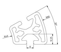 Profil R40/80-30° Nut 8 Image