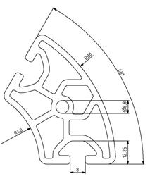 Profil R40/80-60° Nut 8 Image