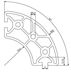 Profil R40/80-90° Nut 8 Image