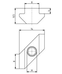 Rhombusmutter M5 Nut 8 Image