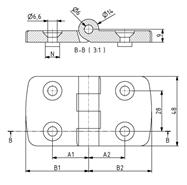 Standard Scharnier 30x30 Nut 6 Image