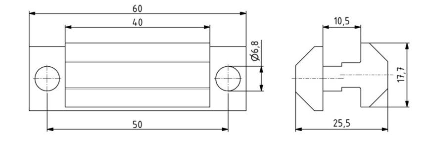 Systemgleiter asymmetrisch Nut 8 Image