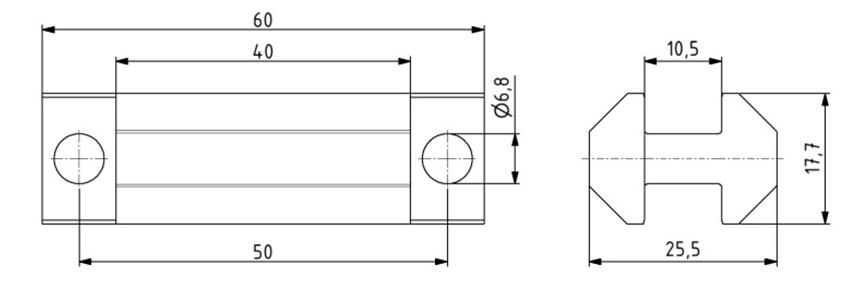 Systemgleiter symmetrisch Nut 8 Image