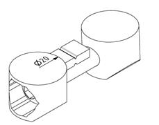 Uni-Stoßverbinder für Profil 40x40 Nut 8 Image