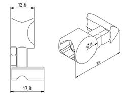 Unispannsatz für Profil 40x40 Nut 8 Image