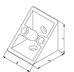 Winkel 20x20 Nut 5 mit Befestigungssatz Image