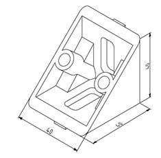 Winkel 40x40 Nut 8 ohne Befestigungssatz Image