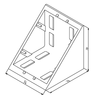 Winkel 80x80 Nut 8 ohne Befestigungssatz Image