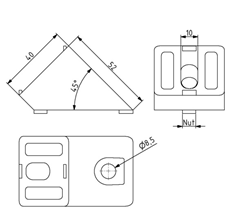 Winkelverbinder 45° Image
