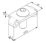 Zentrierplattensatz für Profil 30x30 Nut 6 Image