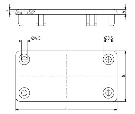 Abdeckkappen für Kabelkanal 40x40 - 80x160 Image