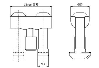 Bolzenverbinder 40 Nut 10 D17mm Image