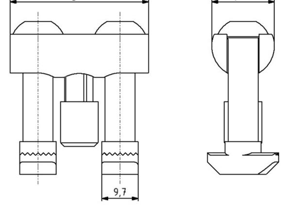 Bolzenverbinder 90 Nut 10 D17 mm Image