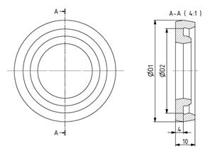 Dämpfungsring D44 - D90 für Gelenkfuß Image