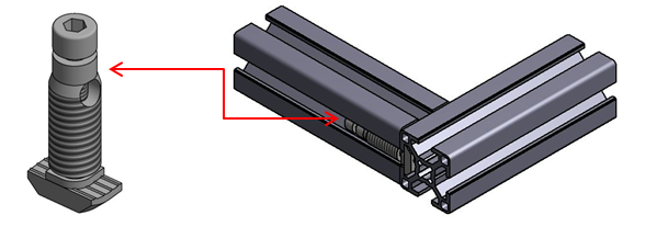 Formverbinder Nut 10 für Profil leicht Image